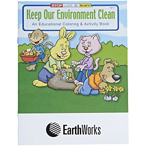 Keep Our Environment Clean Coloring Book Main Image