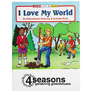 I Love My World Coloring Book Main Image