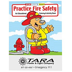 Practice Fire Safety Coloring Book Main Image