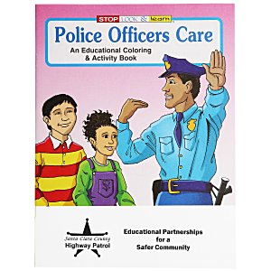Police Officers Care Coloring Book Main Image