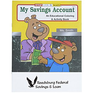 My Savings Account Coloring Book Main Image