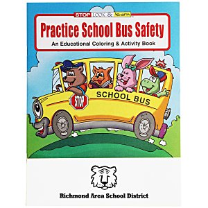 Practice School Bus Safety Coloring Book Main Image