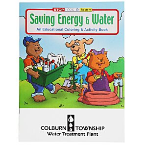 Saving Energy & Water Coloring Book Main Image