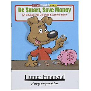 Be Smart, Save Money Coloring Book Main Image