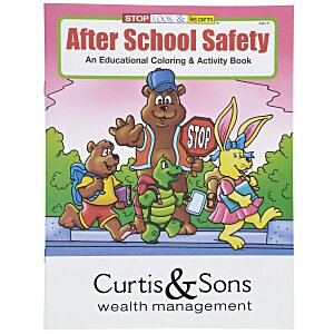 After School Safety Coloring Book Main Image