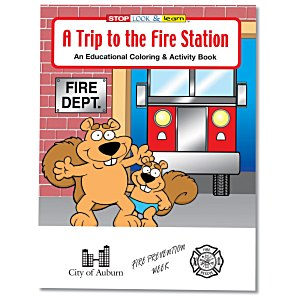 A Trip to the Fire Station Coloring Book Main Image
