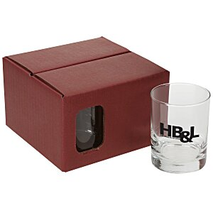 Double Old-Fashioned Glass Set - Colored Box