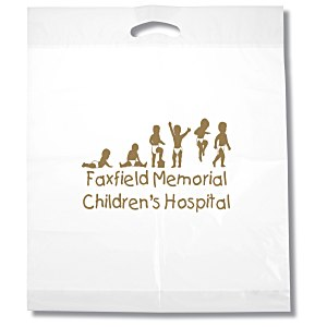 "Oxo-Biodegradable Die Cut Bag - 22"" x 18"" Main Image"