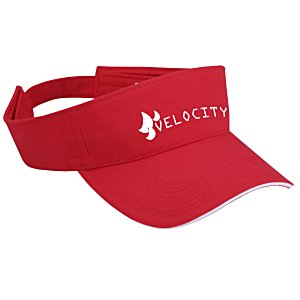 Lightweight Brushed Twill Visor - 24 hr Main Image