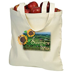 "Cotton Sheeting Natural Economy Tote - 15-1/2"" x 15"" - Full Color Main Image"