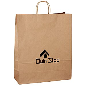 "Kraft Paper Brown Eco Shopping Bag – 19-1/4"" x 16"" Main Image"