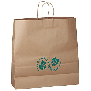 "Kraft Paper Brown Eco Shopping Bag – 18-3/4"" x 18"" Main Image"