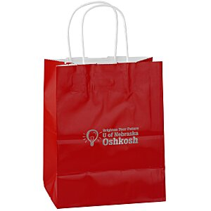 "Gloss Shopping Bag – 9-3/4"" H x 7-3/4"" Main Image"