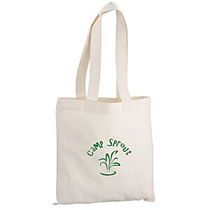 "Cotton Sheeting Natural Economy Tote - 12-1/2"" x 12"" Main Image"