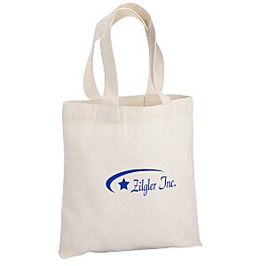 "Cotton Sheeting Natural Economy Tote - 9-1/2"" x 9"""