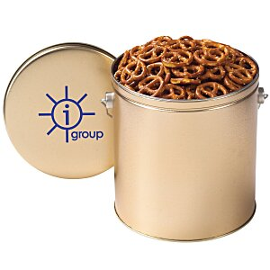 Mini Pretzel Tin - Solid - 1 Gallon Main Image