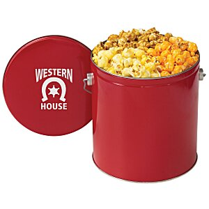3-Way Popcorn Tin - Solid - 1 Gallon