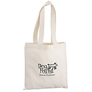 "Cotton Sheeting Natural Economy Tote - 12-1/2"" x 12"" - 24 hr"