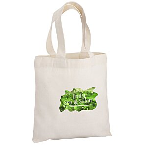 "Cotton Sheeting Natural Economy Tote - 9-1/2"" x 9"" - Full Color Main Image"
