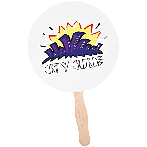 "Hand Fan - 8"" Round - Full Color Main Image"