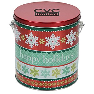 Chocolate Mini Pretzel Tin - Design - 1 Gallon