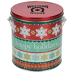3-Way Popcorn Tin - Design - 1 Gallon