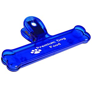 "Dog Bone Bag Clip - 6"" - Translucent Main Image"