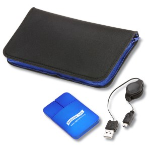 Light-up Mouse with Zippered Mouse Pad Case Main Image