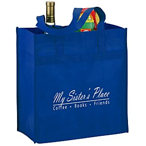 "Polypropylene Reusable Grocery Bag - 14"" x 13"" Main Image"