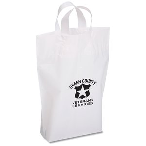 "Oxo-Biodegradable Soft Loop Shopper - 15"" x 12"""