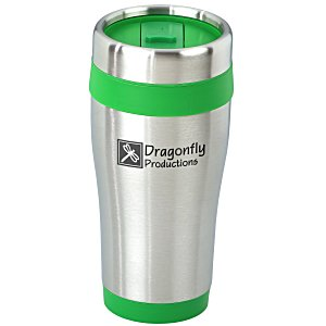Steel Tumbler with Color Trim - 16 oz. - 24 hr