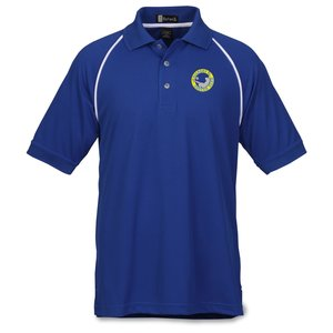 Moisture Management Polo with Piping - Men's Main Image