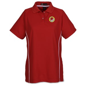 Moisture Management Polo with Piping - Ladies' Main Image