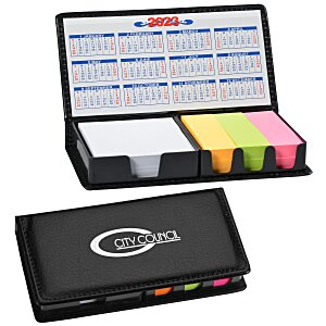 Memo Box with Adhesive Notes and Calendar Main Image