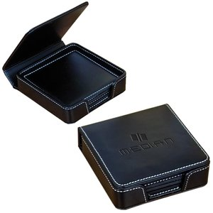 Leather Coaster Set - Debossed Main Image