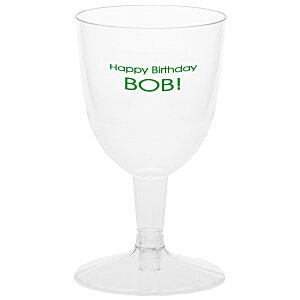 Two-Piece Plastic Wine Glass - 5 oz. - Low Qty Main Image