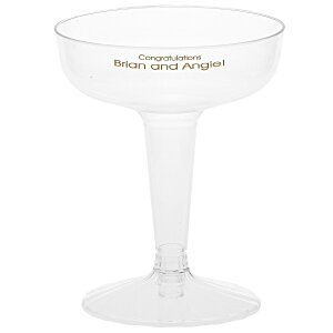 Two-Piece Plastic Champagne Glass - 4 oz. - Low Qty Main Image