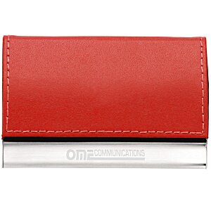 Leather and Metal Business Card Holder Main Image
