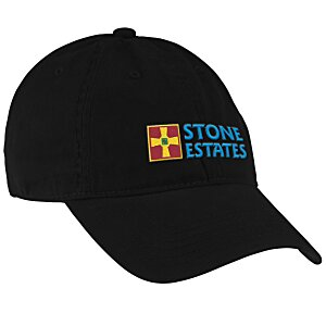 Brushed Washed Cotton Twill Cap - Embroidered Main Image
