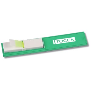 Bookmark Ruler w/Pop-up Tape Flags - Translucent - Closeout