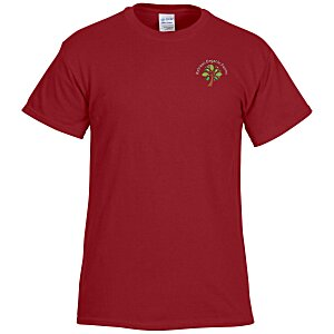 Gildan 6 Oz Ultra Cotton T Shirt Men S Embroidered Colors Main