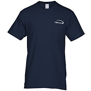 Hanes Tagless Pocket T-Shirt - Screen - Colors Main Image