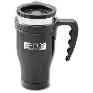 Stainless Steel Diamond Travel Mug - 16 oz. Main Image