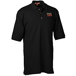 Harriton 6 oz. Ringspun Cotton Pique Polo - Men's Main Image