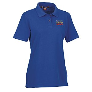 Harriton 6 oz. Ringspun Cotton Pique Polo - Ladies' Main Image