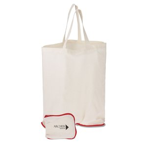 Foldable Cotton Grocery Tote Main Image