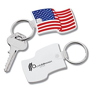 US Flag Stock Soft Key Tag Main Image