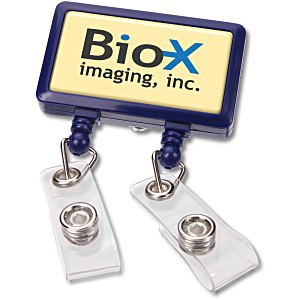 Dual Strap Retractable Badge Holder Main Image