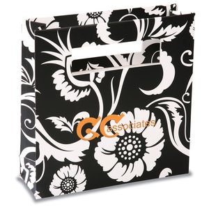 "Rectangle Handle Gift Bag - 8"" x 8"" - Paisley Main Image"