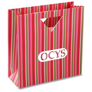 Triangle Handle Gift Bag - Fuchsia Stripe Main Image
